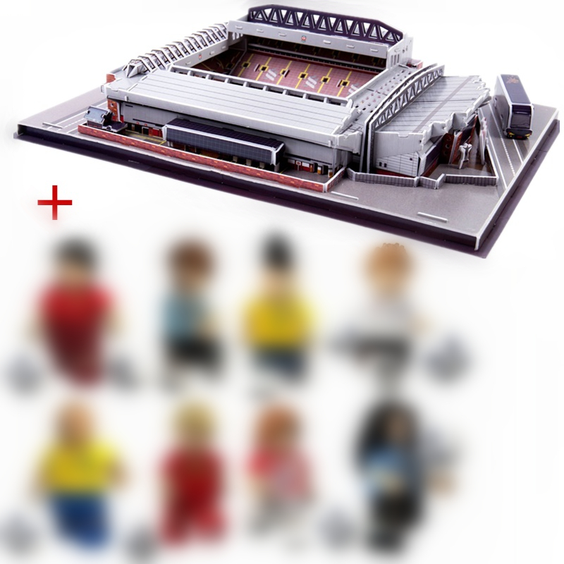 HOT NEW Jigsaw 3D Puzzle Architecture England Anfield Liverpool The Reds Football Stadiums Toy Model Sets Building Paper