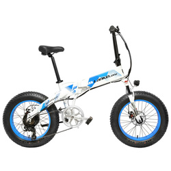 20 Inch Folding Mountain Bike 500W 48V 14.5Ah Lithium Battery Fat Bike Electric Bike 5 Level Pedal Assist Suspension Fork