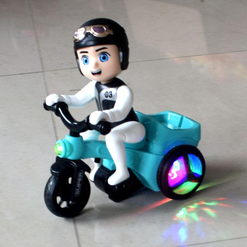 Creative Children Electric Tricycle Toy Music Lighting Motorcycle Toys