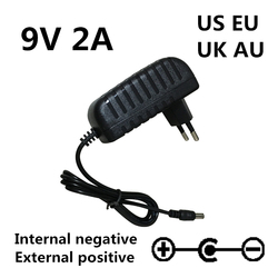 Reverse polarity AC/DC 9V 2A HISPEEDIDO New Replacement adapter power supply Charger for sega megadrive 1 MD1 Genesis 1