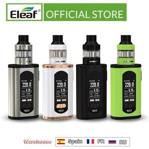 "Image 1 - ארה""ב/צרפת מחסן מקורי Eleaf להפעיל עם ELLO T ערכת 220W 1.3 אינץ מסך 0.2ohm HW3/0.3ohm HW4 סליל E סיגריה"