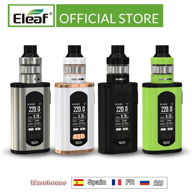 """ארה""""ב/צרפת מחסן מקורי Eleaf להפעיל עם ELLO T ערכת 220W 1.3 אינץ מסך 0.2ohm HW3/0.3ohm HW4 סליל E סיגריה"""