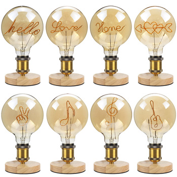 TIANFAN Led Bulbs Vintage Light Bulb Alphabet  Love Home Table Lamp Bulb 4W Dimmable 110V 220V Decorative Light Bulb Warmth Glow