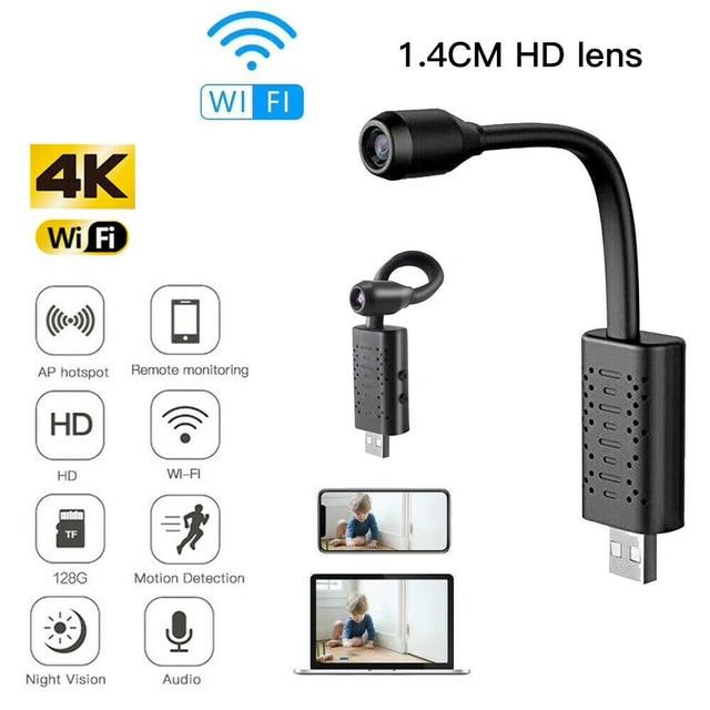 1080P HD Mini IP Camera USB Wireless Wifi Webcam Portable Security Alarm Real-time Surveillance Hidden Home Fire Theft Camcorder 1