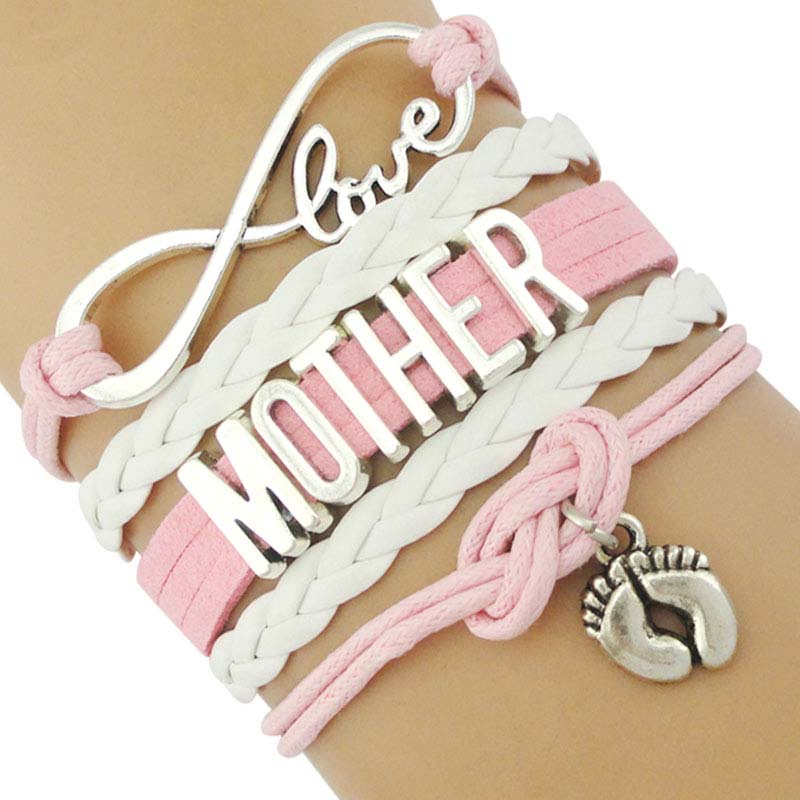 Infinity Love Family Mom Bracelets For Women Mother Baby Shower Mimi Children Bracelets For Father Papa Dad