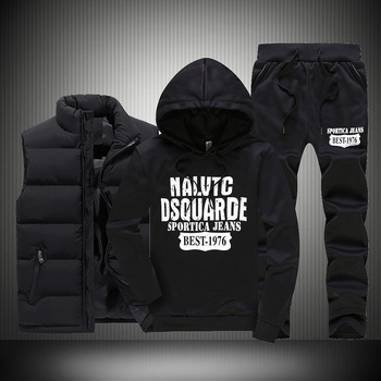 Men Warm Sport Track Suit 3 Pieces Sets Winter Sportsuit 2020 New Thermal Hoodies Sets Male Fleece Windproof Gym Run Sportswear 4
