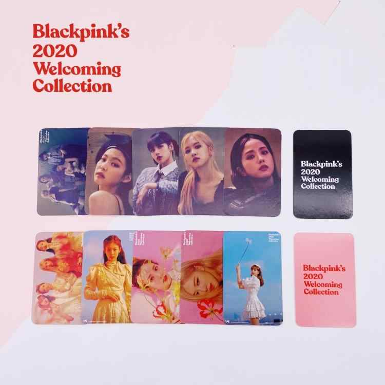 KPOP BLACKPINK New Album welcoming Collection cards ROSE JENNIE JISOO LISA Box Mini Truck Random Card.jpg q50