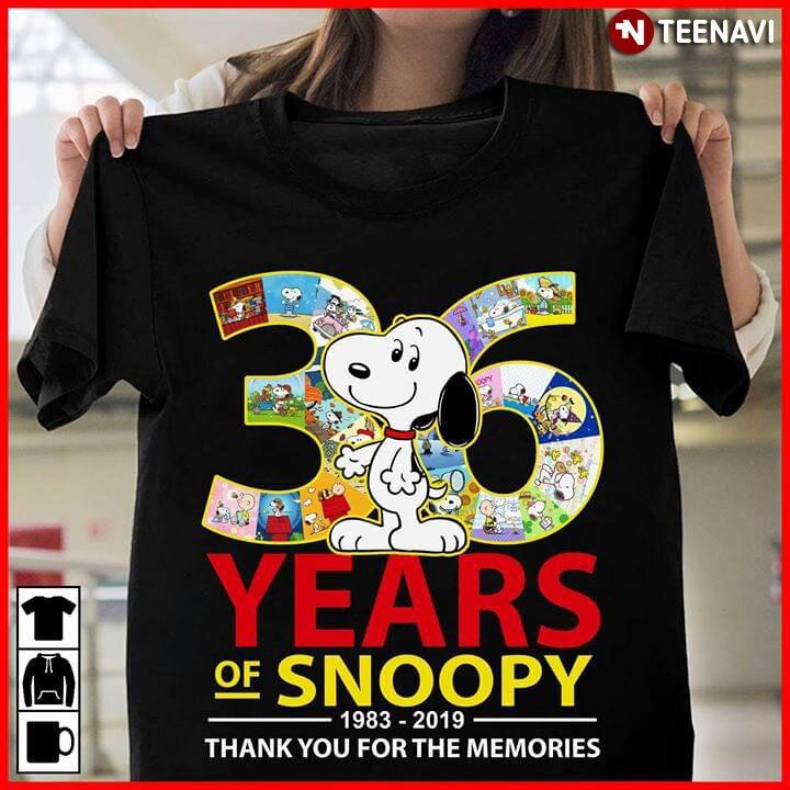 36 Năm Snoopy 1983-2019 Thành Bạn Cho Những Kỷ Niệm Áo Thun