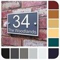 Знак на дом Домашний номер, дверной номер, табличка, уличный адрес, современный стеклянный эффект