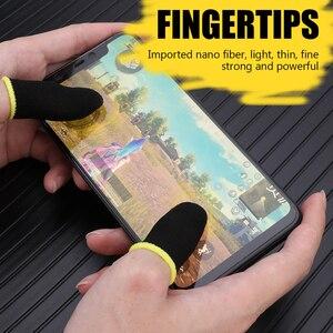 Para PUBG 1 par controlador de juego cubierta de dedo a prueba de sudor no arañazos sensible pantalla táctil Gaming dedo pulgar manga guantes