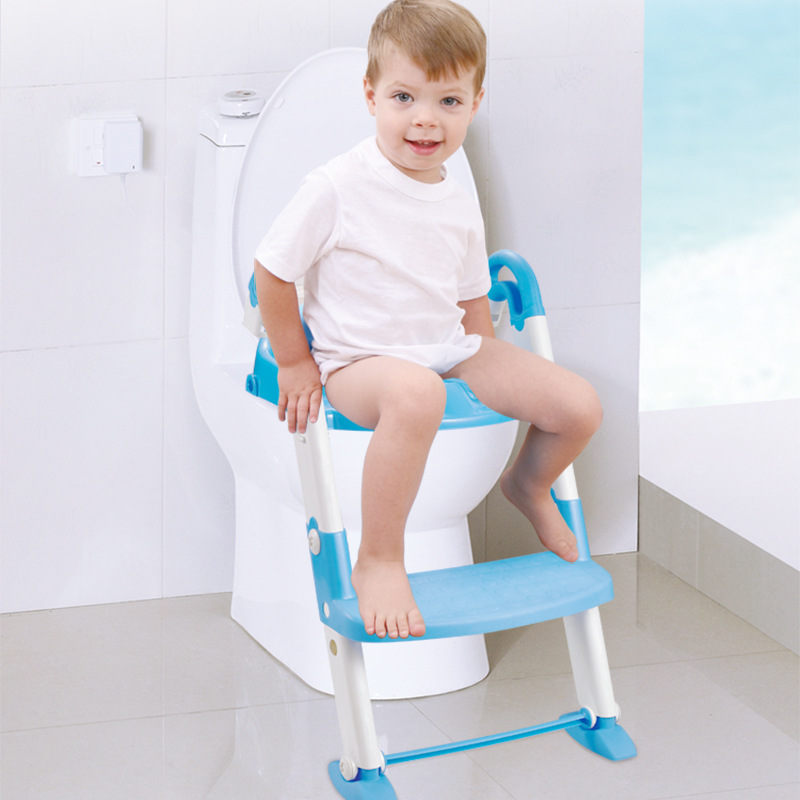 Infant 3-in-1 Multi-functional Ladder Toilet Foldable Chamber Pot Auxiliary Pedestal Pan Toilet Seat