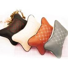 Кожаная дышащая сетчатая подушка для автомобиля, подушка для шеи, подушка для автомобиля, новинка, подголовник для автомобиля, мягкая подкладка для велосипеда, аксессуары, 1 шт.