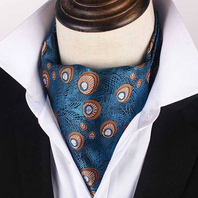 Cravat Fashion Retro Scarf Men's Gifts Trendy Vintage Small Cashew Flower Paisley Pattern Jacquard Suit Shirt Accessories