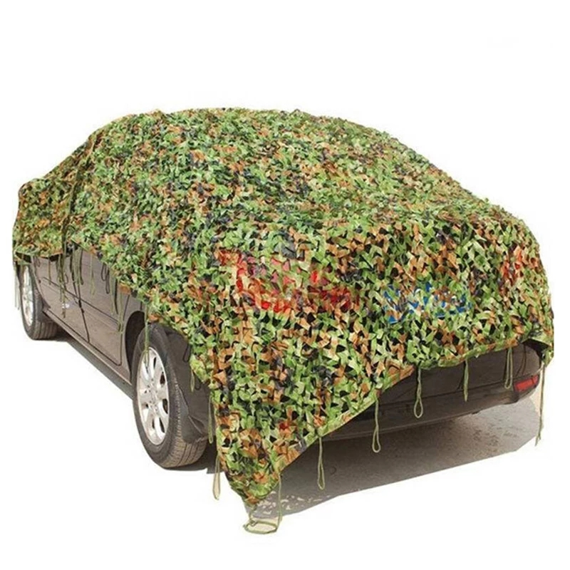 Outdoor Camouflage Net Hunting Camo Netting Camping Camouflage Hiding Net Car Covering Sun Shelter  Jungle Leave NetNew