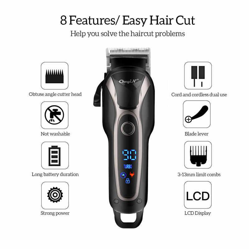 Cortadora de pelo profesional para hombres T9, maquinilla eléctrica para cortar el pelo, máquina cortadora de pelo recargable 0mm, afeitadora, Herramienta de Peinado de peluquero 51