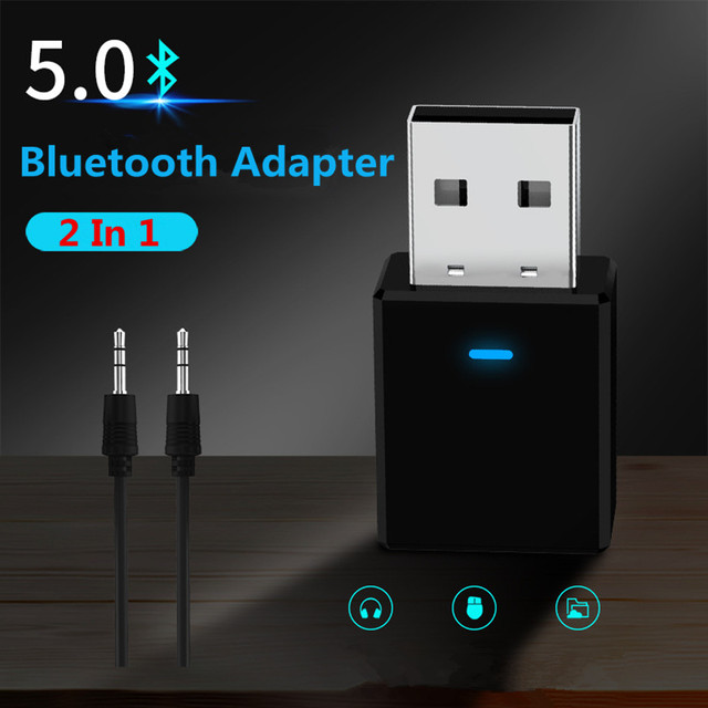 VIKEFON Bluetooth Receiver Transmitter Bluetooth 5.0 Dongle AUX RCA USB 3.5mm Jack Audio Wireless Adapter For TV PC Car Kit