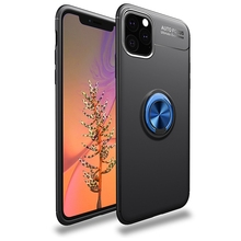 New Metal Finger Ring Stand Phone Case Cover With Magnetic Adsorption 360 Rotation Holder for iPhone 11 Pro Max