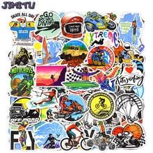 50 PCS Extreme Sport Stickers Graffiti Cool Adventure Boys Decals Skateboard Laptop Car Bike Helmet Motocross Sticker Waterproof