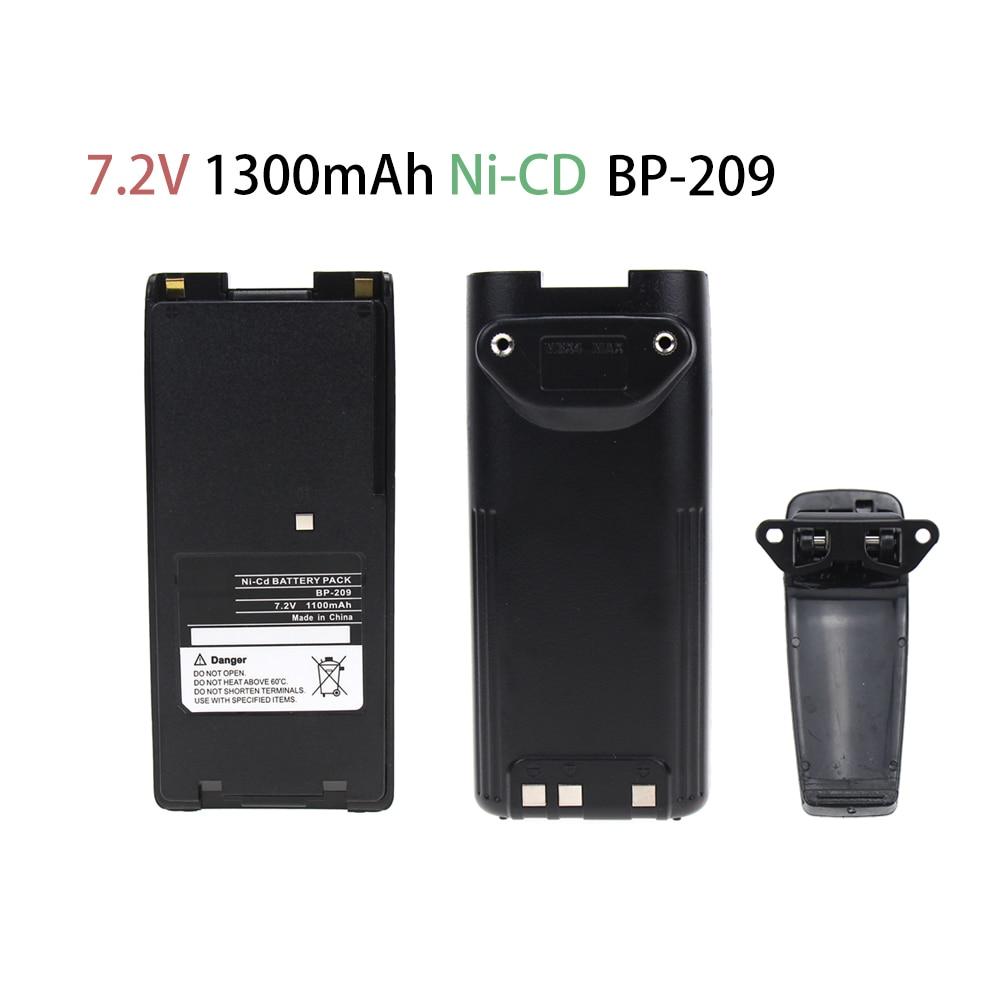 1300mAh Replacement Two-Way Radio Battery BP-209 BP-210 BP-222 BP-209N BP-210N BP-222N For ICOM Radios C-A6 IC-A24 IC-V8