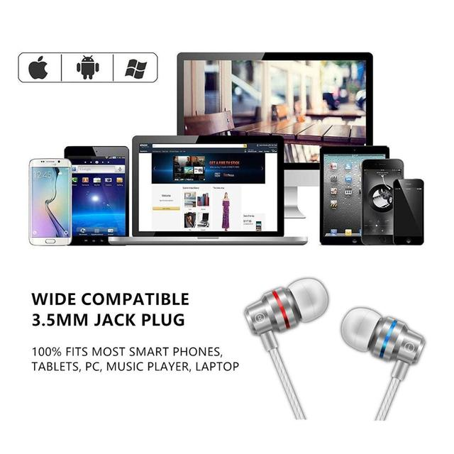 In-Ear Wired Earphone 3.5mm Earbuds Earphones Music Sport Gaming Headset With mic For IPhone Xiaomi Samsung Huawei Stereo 5
