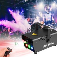 Disco Kleurrijke Rook Machine Mini Led Fogger Ejector Dj Thuis Party Stage Light Fog Machine Draadloze Reomte Controle Rook Thrower