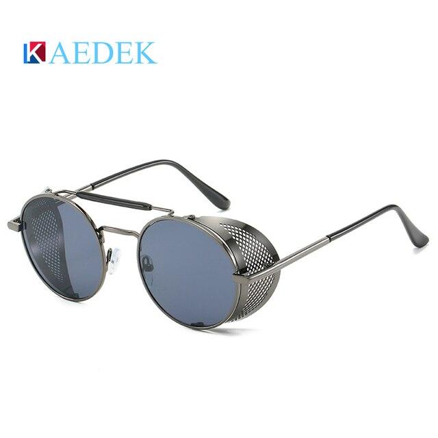 Фото мужские и женские солнцезащитные очки kaedek круглые в стиле