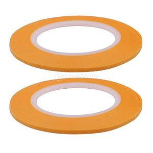 2mm & 3mm &4mm Yellow Painting Model Mask Tape Modelling Airbrushing Decoration Pack of 3 Roll