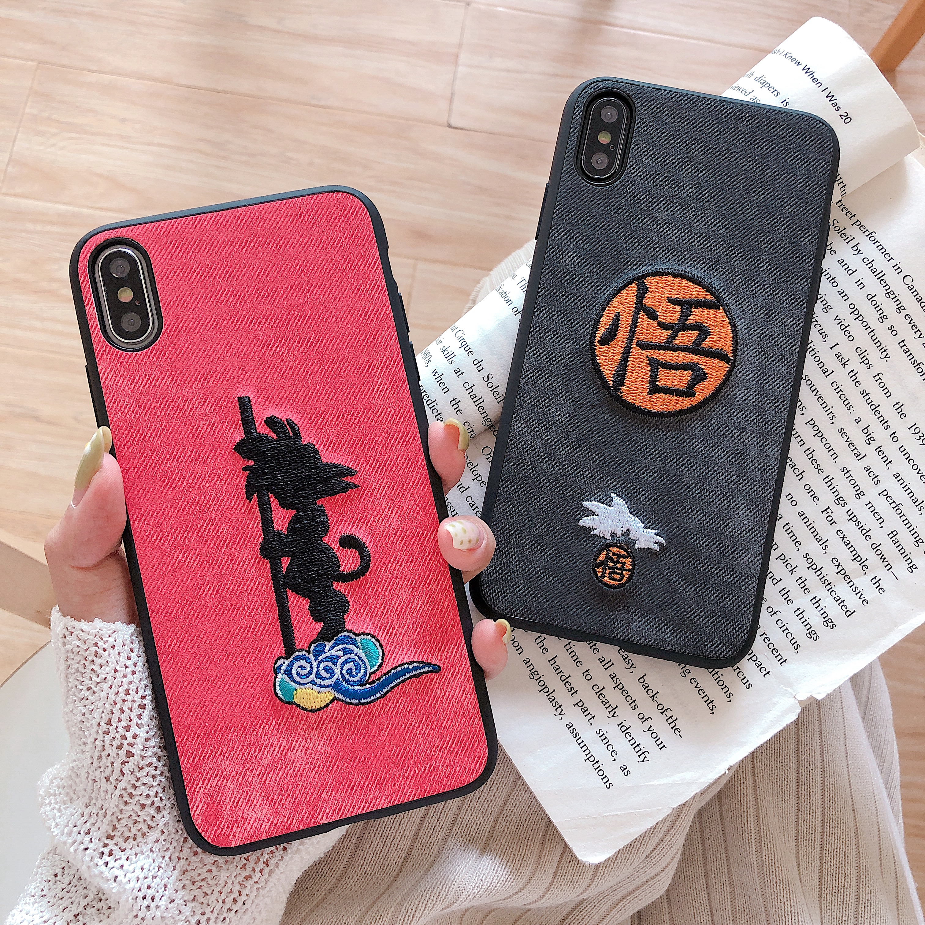 2019NEW Luxury cloth skin phone case For apple iphone 7 8 6 6s Plus Ultra  Soft Silicone Cover X XS Max XR Cartoon