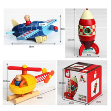 Wood 3D Toys Removal Disassembly Assembly Helicopter Rocket Puzzle Toys Magnetic Wood Educational Toys Diecasts & Toy Vehicles
