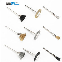 9pcs Wire Brushes Wheels Mini Drill Rotary Tool Metalworking Accessories