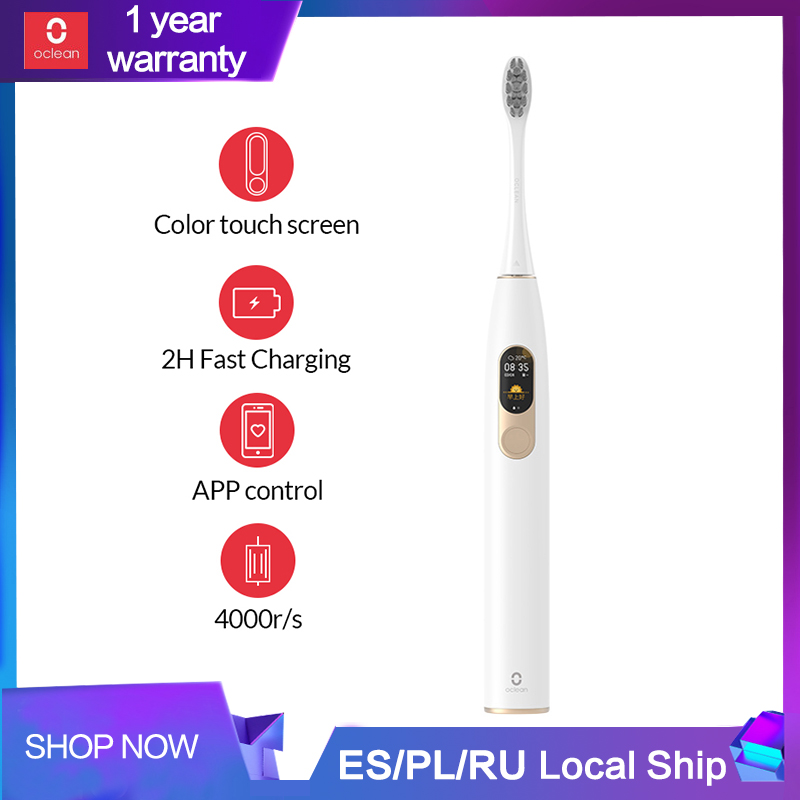 Ev Aletleri'ten Elektrikli Diş Fırçaları'de Xiaomi Mijia Oclean X sonic elektrikli diş fırçası yükseltilmiş yetişkin su geçirmez Ultra sonic otomatik diş fırçası USB şarj edilebilir'da  Grup 1