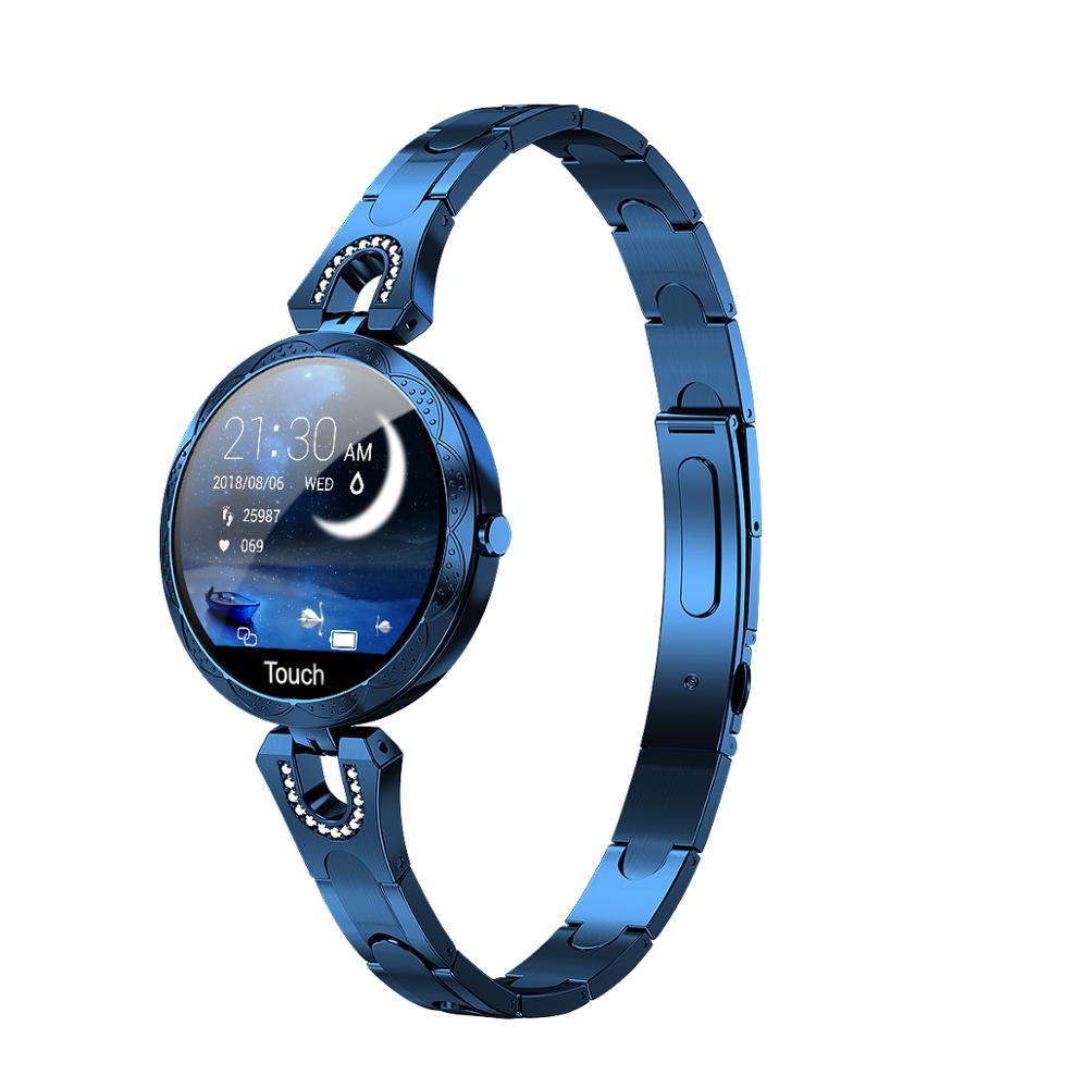 Новые смарт-часы AK15 классические женские Смарт-часы с артериальным давлением монитор сердечного ритма Спорт IP67 подключение iOS Android смартфон