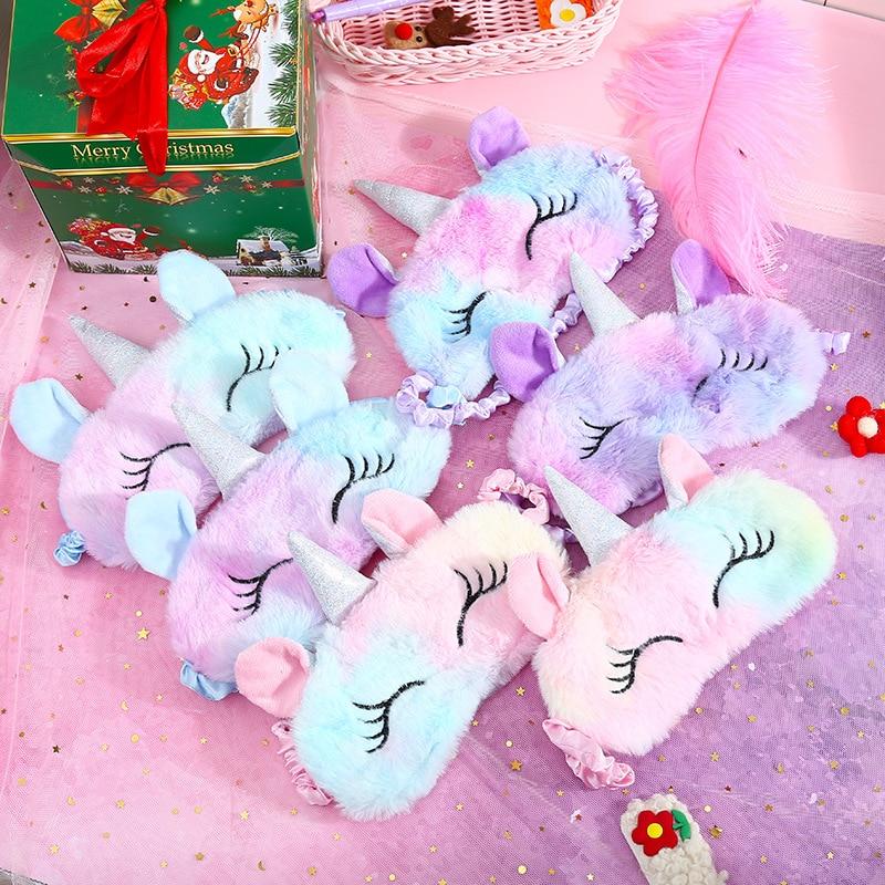 Plush Anime Sleeping Eye Mask Cute Kids Sleep Mask Cartoon 3D Eye Cover Eye Blindfolds Travel Eye Band Shade Rest Eyepatch