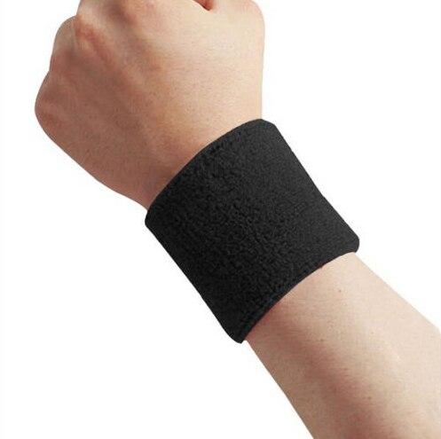 Unisex Cotton Sweatband Wristband Arm Band Basketball Tennis Gym Yoga Sweat Band