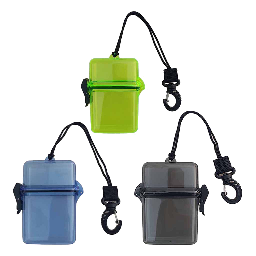 Waterproof Dry Box Container With Swivel Clip Scuba Diving Kayaking Sailing Waterproof Dry Box For Water Sports Diving