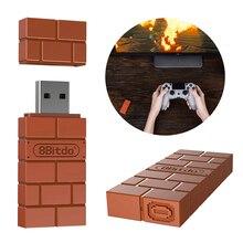 10 قطعة/الوحدة 8Bitdo USB اللاسلكية بلوتوث محول استقبال ل ويندوز ماك ل نينتندو التبديل ل PS3 تحكم جديد