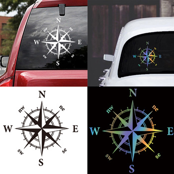 Car-styling Compass Car sticker Decal Offroad Suv Waterproof Accessories Glue Stickers Vinyl Sticker Car Body Cartoon cartoon camper decal car stickers vinyl decal decorate sticker waterproof fashion funny car styling accessories