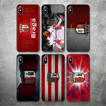 лучшая цена Phone Case For Sporting Braga FC Case For iPhone Shell DIY Picture Black Soft TPU Cover For Braga X XR XS MAX 7 8 7plus 6 6S 5S