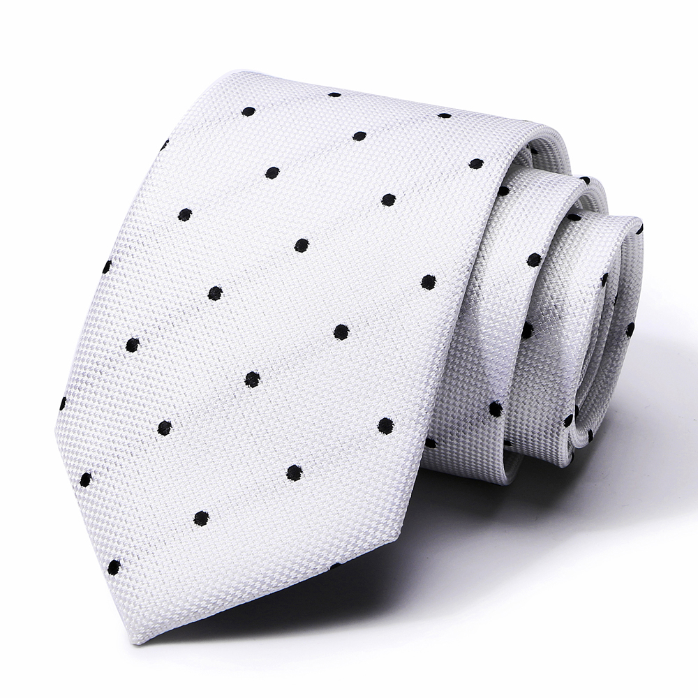 7.5 Cm Classic Men Business Formal Wedding Tie Stripe Dot Necktie Fashion Shirt Dress Accessories