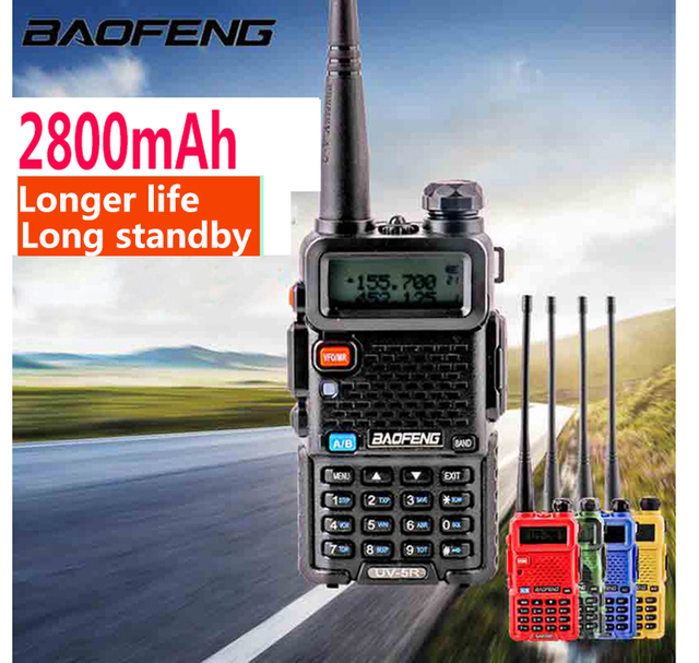 2020 Baofeng UV 5r walk talk 2800MAH baufeng 5w walkie talkie 10 km vhf uhf radio station mobile dual band ham radios woki toki