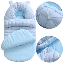 Baby Sleeping Bag Winter Envelope For Newborns Extract Envelope for Discharge Sleep Thermal Sack Cotton Kid In Baby Cart Blanket