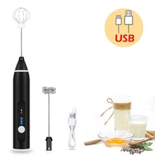 3-Speed USB Rechargeable Coffee Frother Milk Frothing Eggbeater Egg Beater Drink Whisk Mixer Handheld Food Blender Whisk Jugs