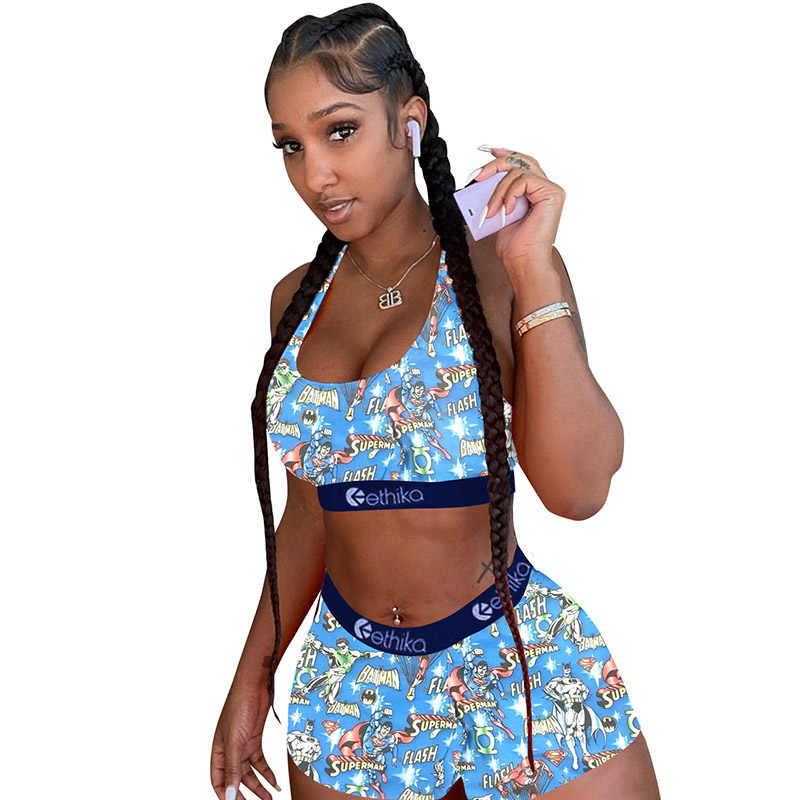 Ethika women Bra and underpants set Sport Crop tops Spaghetti Strap All Types