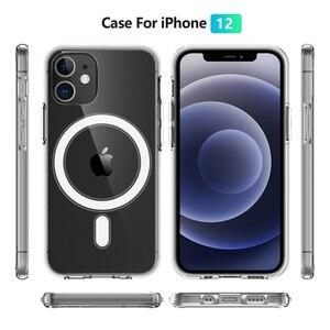 Image 2 - מגנט מקרה ברור עבור iPhone 12 מיני 11 פרו מקס 12Pro X XS XR iPhone12 מגנטי מקורי יוקרה מותג היברידי אקריליק קשה כיסוי