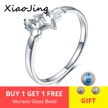 New 100% 925 Sterling Silver Sparkling Star Adjustable Ring With Clear CZ for Women Wedding fashion Jewelry free shipping manbu custom infinity knot ring with moonstone 925 sterling silver ring for women fashion jewelry anniversary gift free shipping