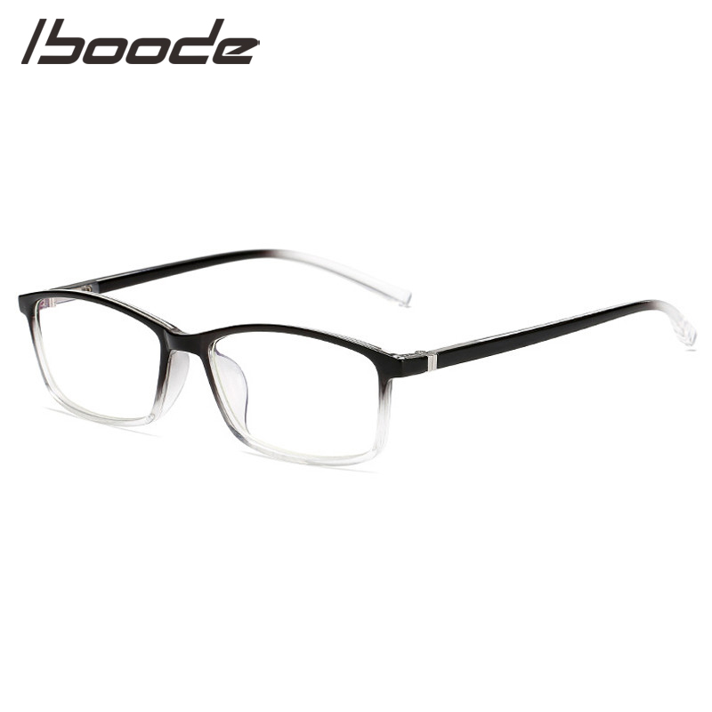 IBOODE Anti Blue Light Myopia Glasses Women Men Square Finished Shortsighted Eyeglasses Unisex Nearsighted Eyewear Spectacles