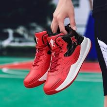цена на Men High-top Jordan Basketball Shoes Mens Cushioning Light Basketball Sneakers Non-slip Breathable Outdoor Sports Jordan Shoes