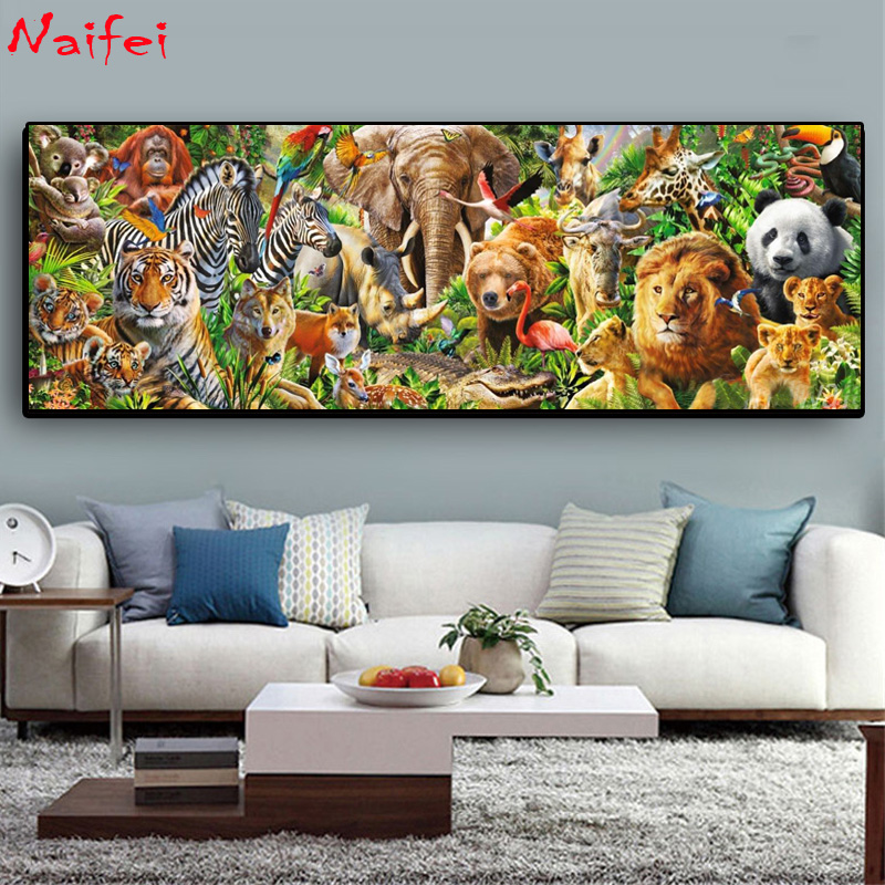 Diamond Embroidery Painting Rhinestone Large Full-Square Animal-Picture of Hot-Sale 5D title=