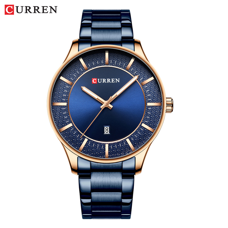Man Watch CURREN Top Brand Man Watches Fashion&Causal Quartz Watches Business Stainless Steel Wristwatch with Date Male Clock