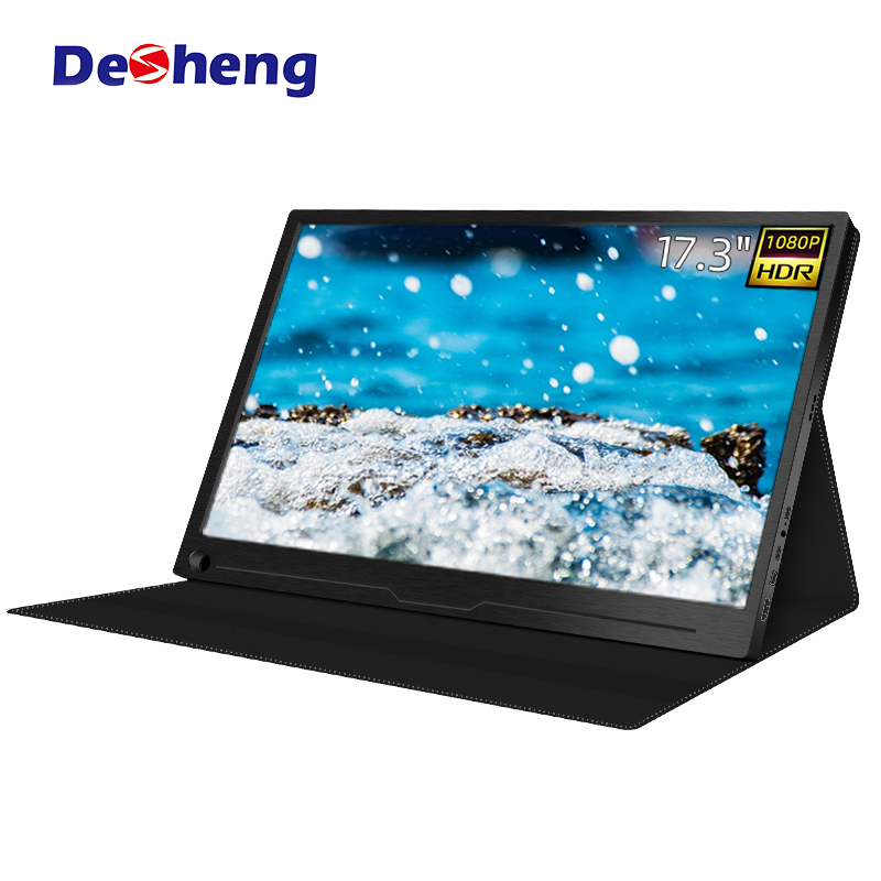 17.3 inch 1080P Portable Gaming Monitor with USB Type C and hd Input for PS4, Xbox, Switch, mini PC, Laptop and Raspberry Pi 4 image